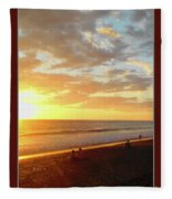 Playa Hermosa Puntarenas Costa Rica - Sunset A One Detail Two Vertical Poster Greeting Card Fleece Blanket