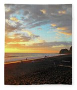 Playa Hermosa Puntarenas Costa Rica - Sunset A One Fleece Blanket