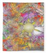 Playful Colors Of Energy Fleece Blanket