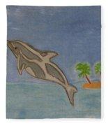 Playful Dolphin Fleece Blanket