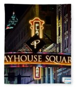 Playhouse Square Up Close Fleece Blanket