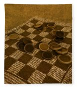 Playing Checkers On A Rug Fleece Blanket