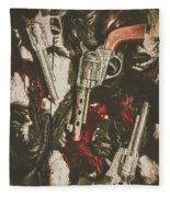 Playing Cowboys And Indians Fleece Blanket