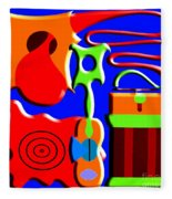 Playing Music Fleece Blanket