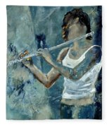 Playing The Flute Fleece Blanket
