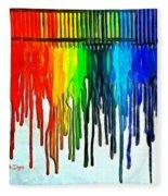 Playing With Colors Fleece Blanket