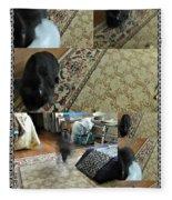 Playtime With Bunny Fleece Blanket