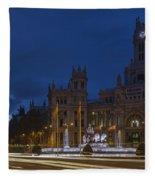 Plaza De Cibeles Madrid Spain Fleece Blanket
