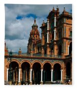 Plaza De Espana Fleece Blanket