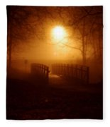 Pleasant Run Bridge Fleece Blanket