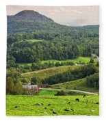 Pleasant Valley Countryside Fleece Blanket