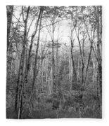 Pleasure Of Pathless Woods Bw Fleece Blanket