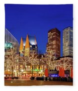 Plein At Blue Hour - The Hague Fleece Blanket