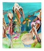 Plethora Of Pelicans Fleece Blanket