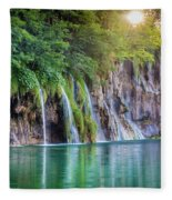 Plitvice Sunburst Fleece Blanket