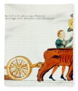 Ploughing, 12th Century Fleece Blanket