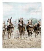Plowing The Fields Fleece Blanket
