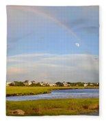 Plum Island Rainbow Fleece Blanket