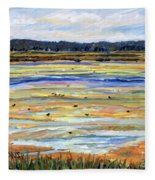 Plum Island Salt Marsh Fleece Blanket