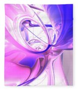Plum Juices Abstract Fleece Blanket