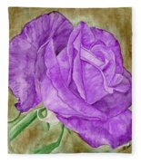 Plum Passion Rose Fleece Blanket