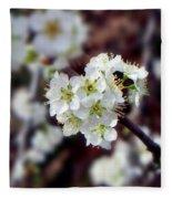 Plum Tree Blossoms II Fleece Blanket