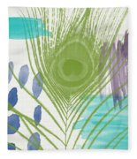 Plumage 4- Art By Linda Woods Fleece Blanket