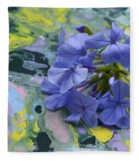 Plumbago Flowers Fleece Blanket