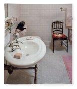 Plumber - The Bathroom  Fleece Blanket