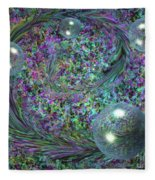 Plume And Bubbles Fleece Blanket