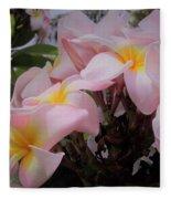 Plumeria In Pink 4 Fleece Blanket