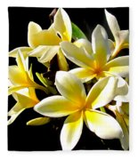 Plumeria Proper Fleece Blanket