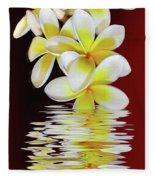 Plumeria Reflections By Kaye Menner Fleece Blanket