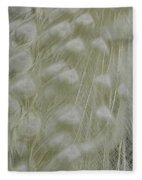 Plumes Of Snow Fleece Blanket