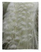 Plumey White Fleece Blanket