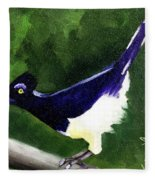 Plush Crested Jay Fleece Blanket