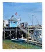Plymouth Waterfront Fleece Blanket