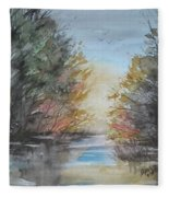 Pm River Sunset Fleece Blanket