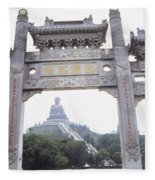 Po Lin Monestary Fleece Blanket