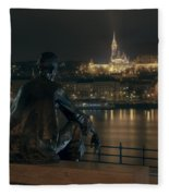 Poet On The Danube Fleece Blanket