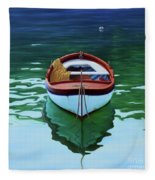 Coastal Wall Art, Poetic Light, Fishing Boat Paintings Fleece Blanket