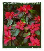 Poinsettia Christmas Fleece Blanket