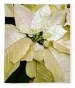 Poinsettias In White Fleece Blanket