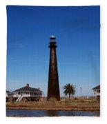 Point Bolivar Lighthouse Tx Fleece Blanket
