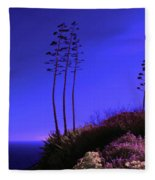 Point Fermin In Infrared Fleece Blanket