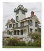 Point Fermin Lighthouse Fleece Blanket