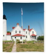 Point Iroquois Lighthouse Fleece Blanket
