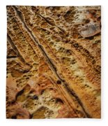Point Lobos Abstract 106 Fleece Blanket