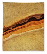 Point Lobos Abstract 111 Fleece Blanket