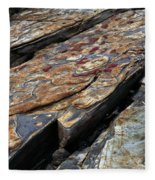 Point Lobos Rock 1 Fleece Blanket